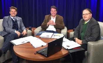 Adam Gislason, Tim Matson and Jeff O'Brien speaking at Cases of Beer II webinar by Minnesota CLE.
