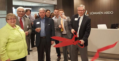 Lommen Abdo's ribbon cutting at their new Minneapolis headquarters