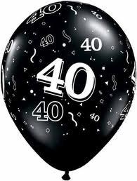 Black & white birthday balloons