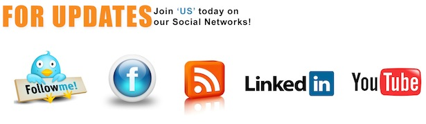 For Updates join us today on our Social Networks