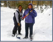 Antoinette Shoveling Snow
