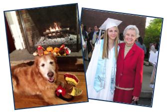 Casey Dog and Graduate Photos