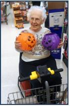 Elizabeth with Pumpkins