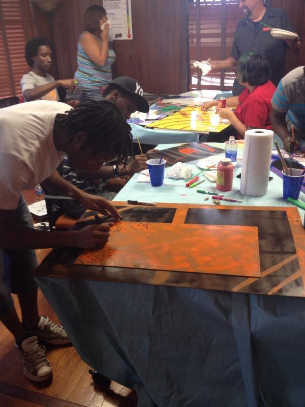 Summer Art Series Young Artists At Work