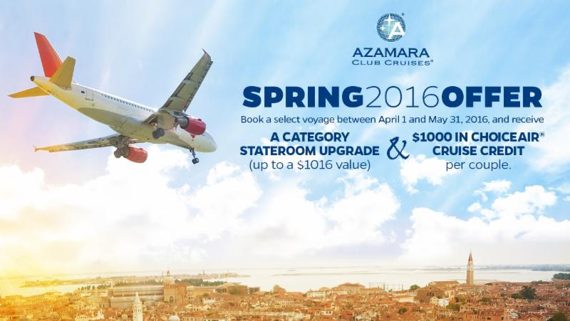 Azamara Spring Offer