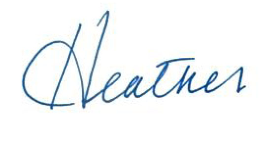 Heather Lee signature