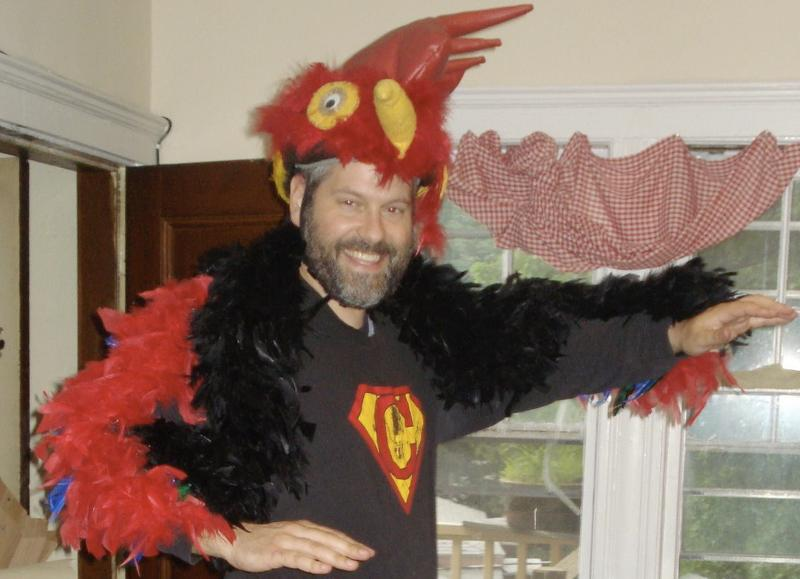 David in a Rooster Costume