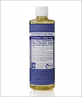 Dr. Bronner's Peppermint Liquid Soap, Organic & Fair Trade!