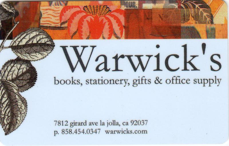 Warwick's Gift Card