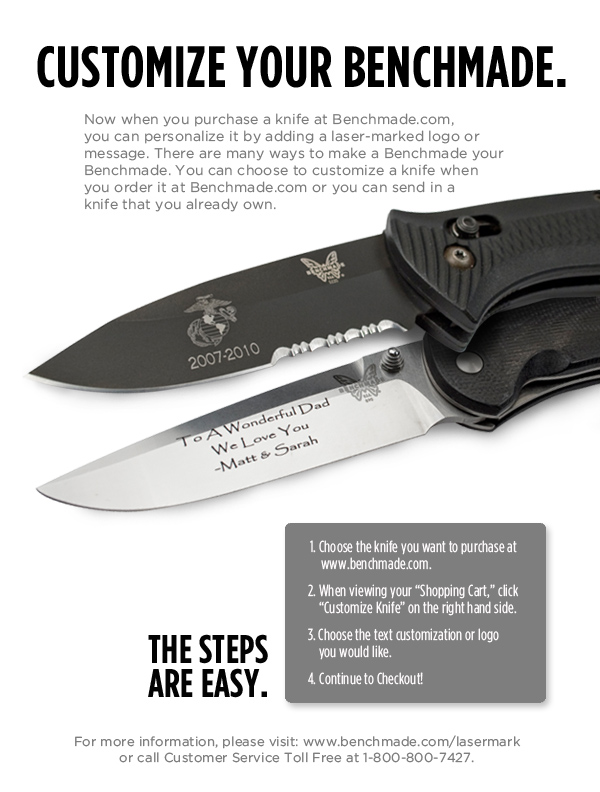 Customize your Benchmade knife - Hunters Networks