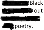Blackout Poetry at the Library