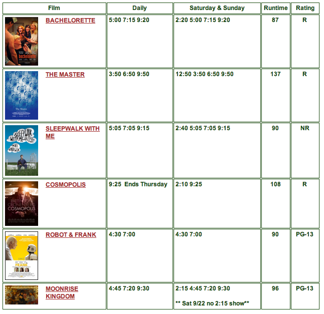 movies sept. 21