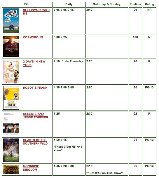 movies sept 14