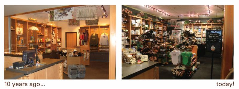 Big changes in the gift shop over the years