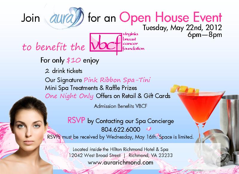 Aura Spa Open House Invitation