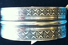 stripe etched cuff