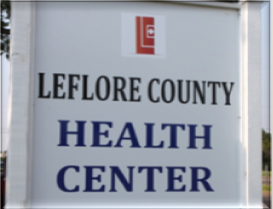 Leflore County Health Center Sign