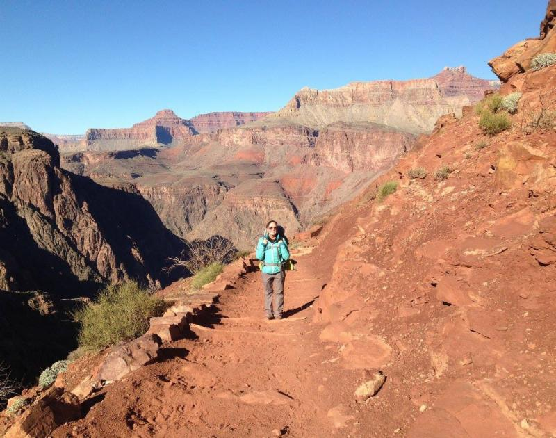 Corrie Parrish on Grand Canyon hike