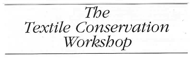 textile conservation workshop