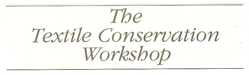 textile conservation workshop