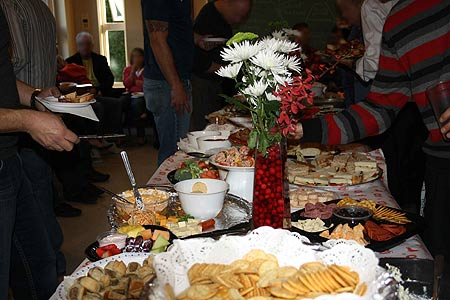 christmas gathering food spread