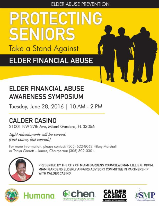 Elder Financial Abuse Awareness Symposium Tuesday June 28th