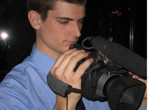 Jeremy Huss adjusting camera
