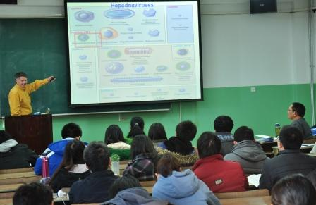 Andy Jackson teaching in China