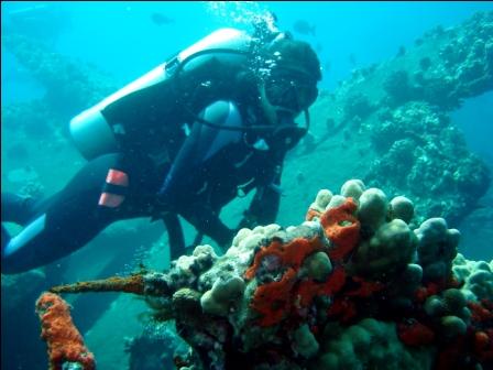 Melissa in scuba gear