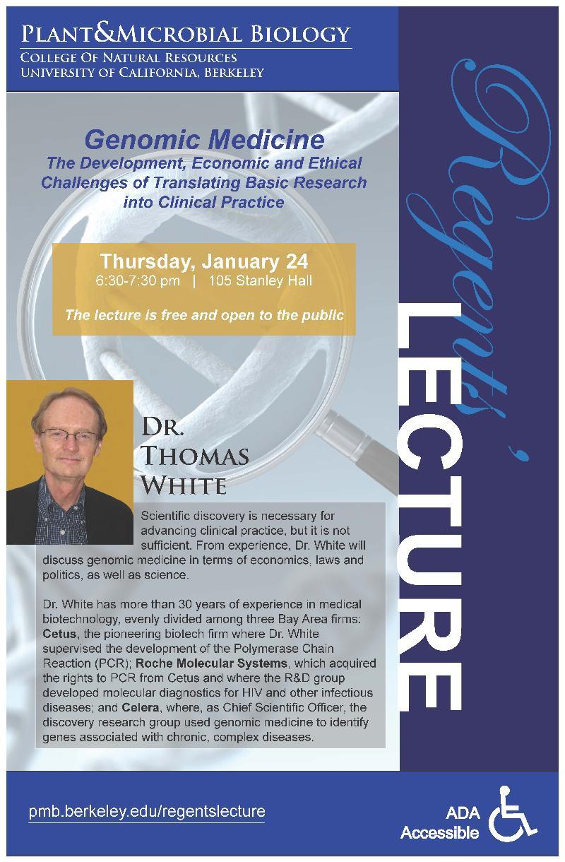 Regents' Lecture Downloadable Poster