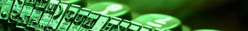 typewriter keys no words