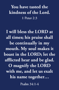 Psalm 34, Peter 1