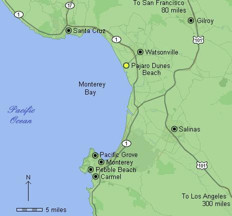 map of greater Monterey Bay region