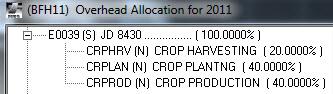 Tractor allocations