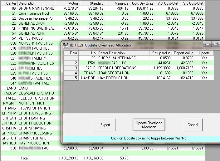 Standard Cost Vendor Monitor 2