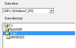 Data Directory Window 2