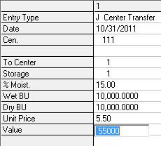 Crop Audit transfer between centers