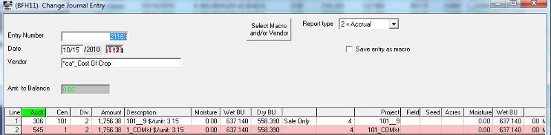 E.CLIPSE internal crop sale