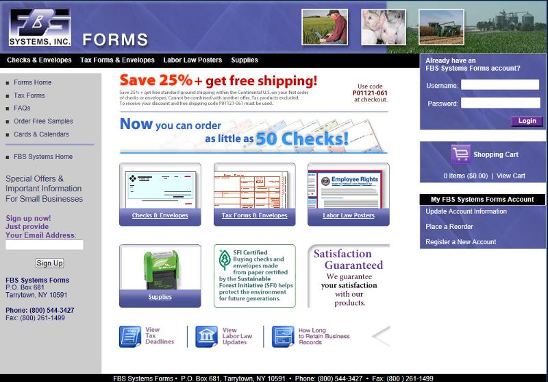 FBS Forms Web Page