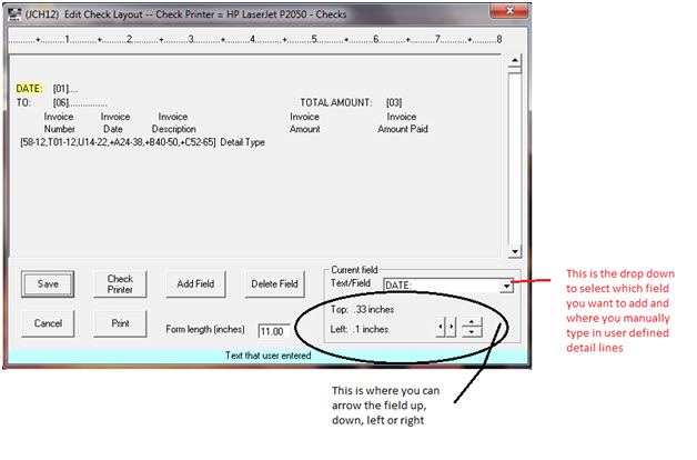 Edit check form screen