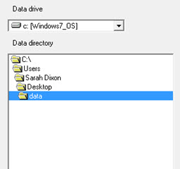 Data Directory Window