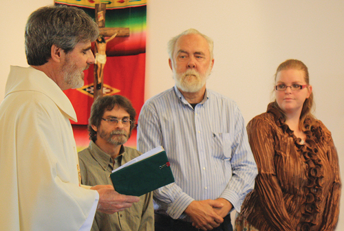 Father Tim Murphy and Anna in Bruce, Mississippi mission