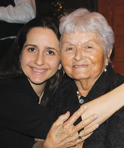 Madge Marten, Glenmary donor, and her granddaughter