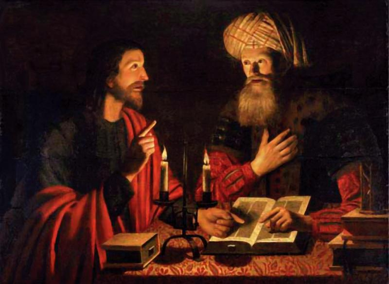 Jesus and Nicodemus, Crijn Hendricksz