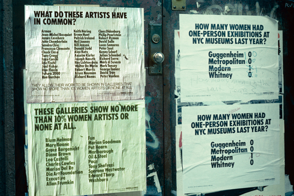 Guerrilla Girls' posters on street