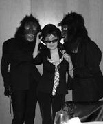 Yoko Ono with Guerrilla Girls