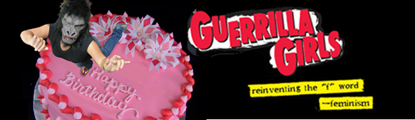 Guerrilla Girl on cake and logo