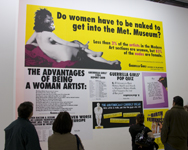 Guerrilla Girls posters Centre Pompidou, Pairs