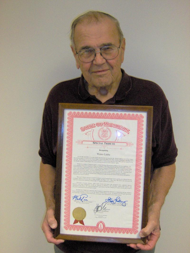 Waino with State Certificate