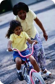 child and parent bike
